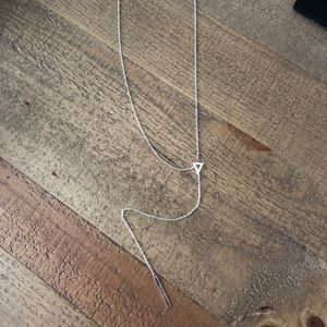 Stella and Dot Triangle Lariat Necklace